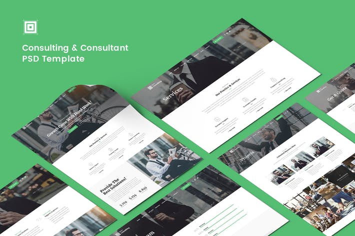Thumbnail for Consulting & Consultant PSD Template