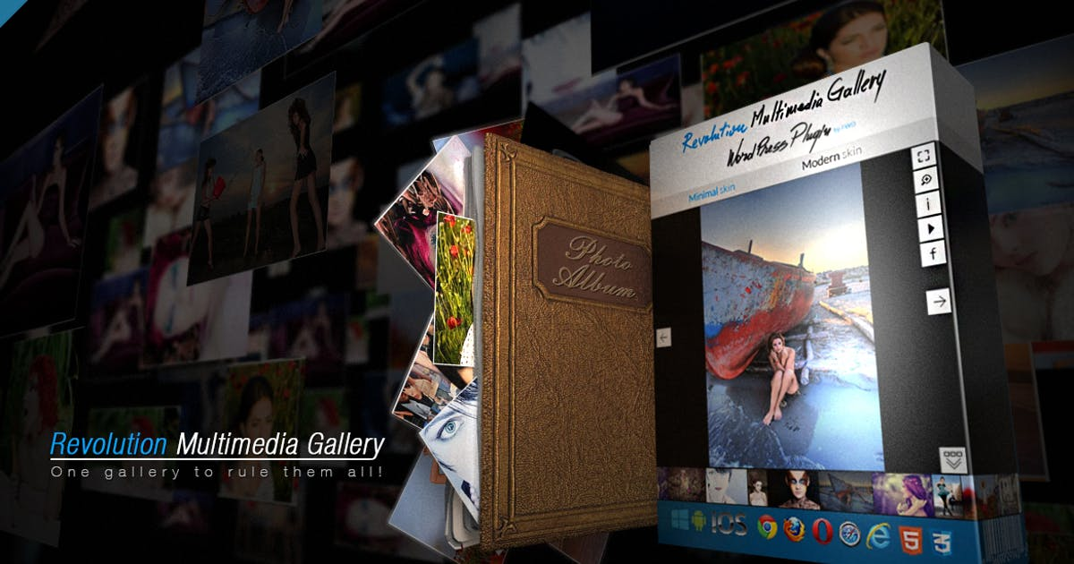 Download Revolution Multimedia Gallery Wordpress Plugin by FWDesign