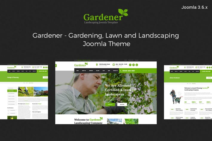 Thumbnail for Gardener-Gardening and Landscaping joomla template