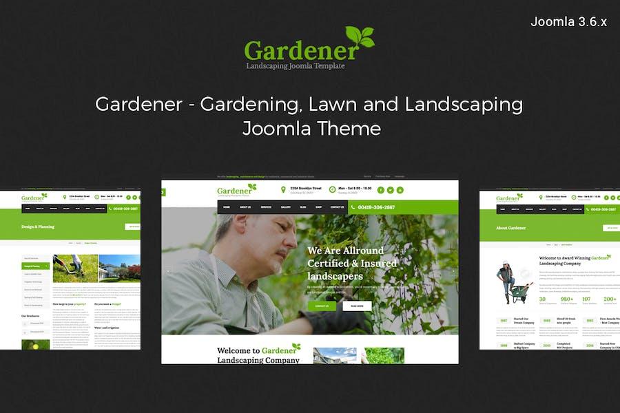 Jardinero-Jardinería y Paisajismo Plantilla Joomla