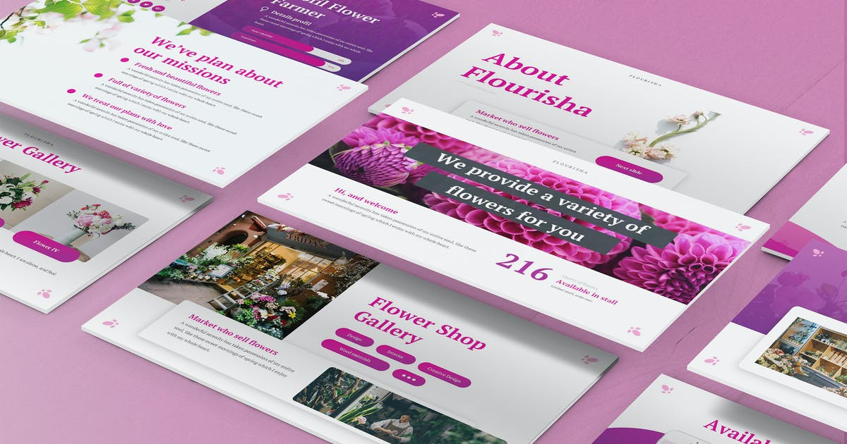 Download Flourisha - Florist Powerpoint Template by SlideFactory