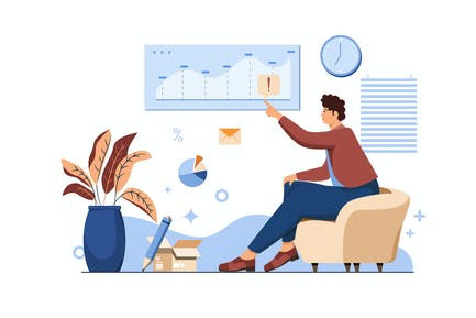 Business Analyst Vector Illustration Flat