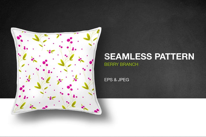 Cover Image For Berry Branch Delicate Seamless Pattern