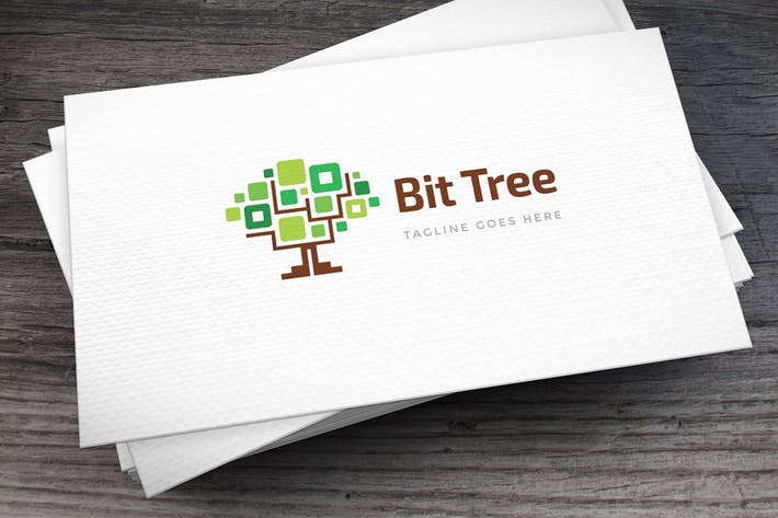 Thumbnail for Bit Tree Logo Template