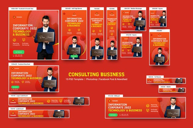 Consulting Business Banners Ad