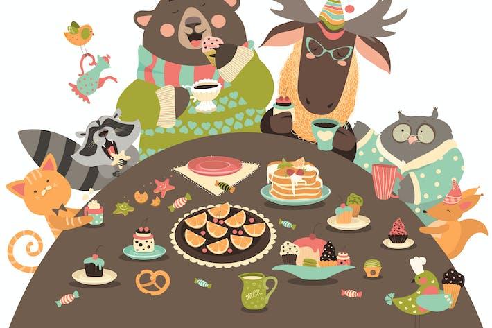 Thumbnail for Cute animals celebrating holidays