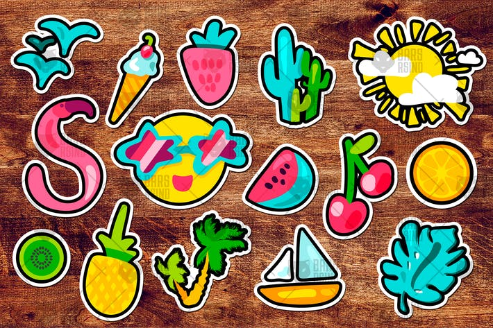 Thumbnail for Tropical Summer Stickers