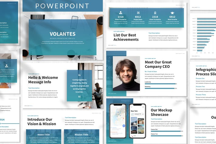Thumbnail for Volantes - Business Powerpoint Template