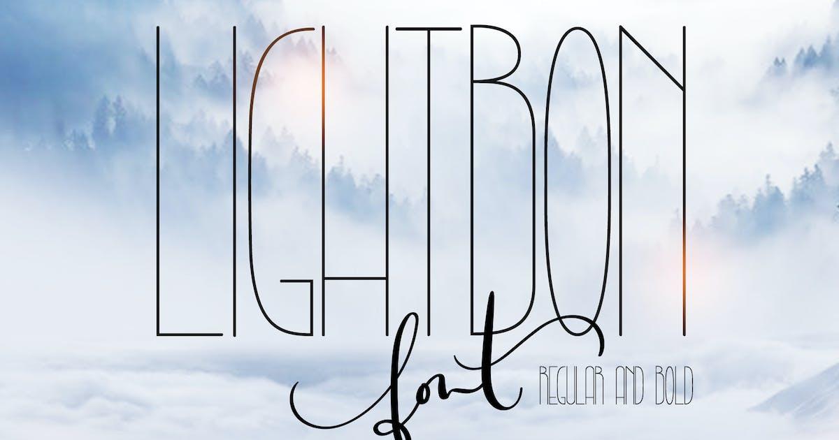 Download Lightbon Modern Font by timonko
