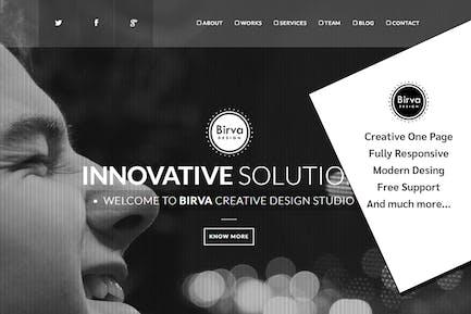 Birva Design : Creative One Page Theme