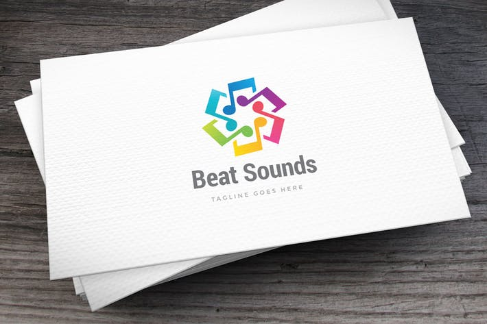 Cover Image For Beat Sounds Logo Template