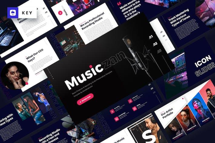 Musiczan - Музыкальный продюсер Keynote вой шаблон