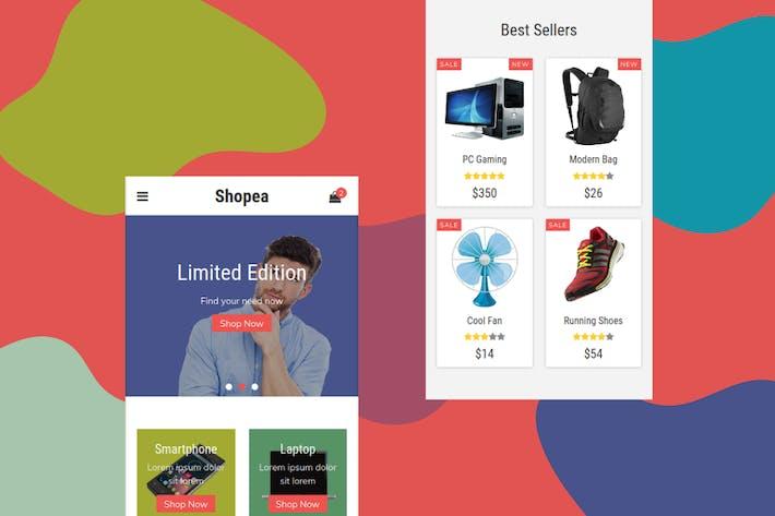 Thumbnail for Shopea - eCommerce Mobile Template
