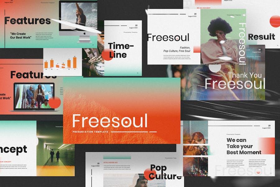 Шаблон презентации слайдов Google Freesoul