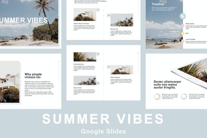 Thumbnail for Summer Vibes Google Slides Template