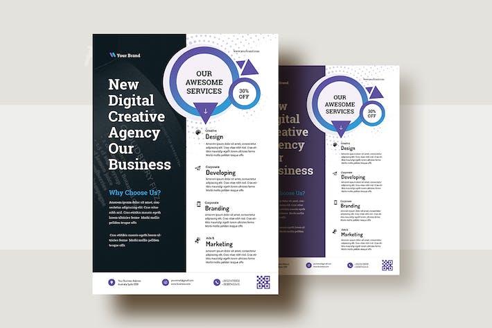 Thumbnail for Business Consultation Flyer Template V-22