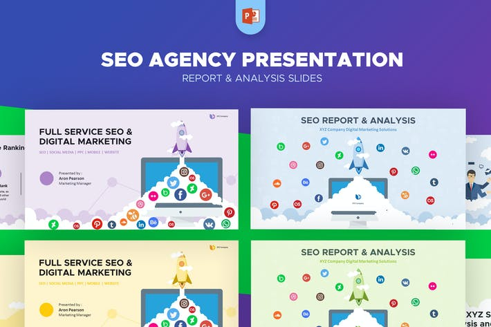 Thumbnail for SEO Agency Report & Analysis PowerPoint