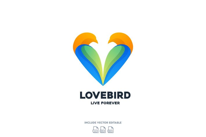 Thumbnail for Love Bird Logo Design