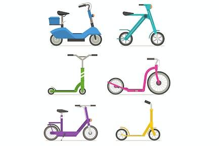 City Kick Scooters and E Bikes Set