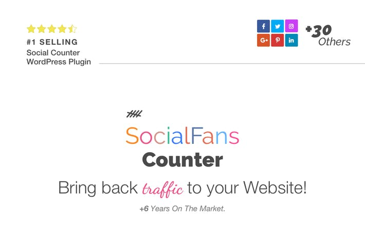 SocialFans - WP Responsive Social Counter Plugin