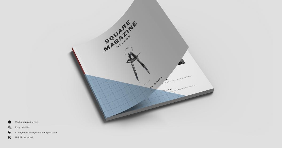 Download Square Magazine Mockup by GraphicMonday