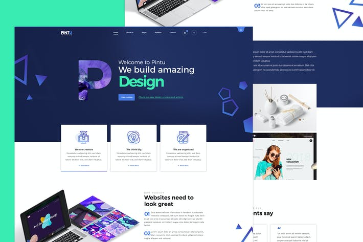 Thumbnail for Pintu - Portfolio PSD template