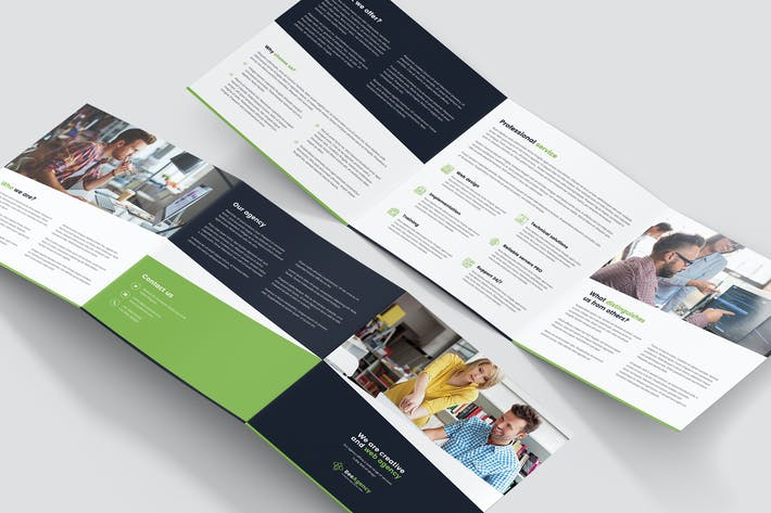 Thumbnail for Brochure – Web Agency Tri-Fold Square