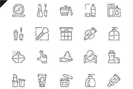 Simple Set Cosmetics Line Icons