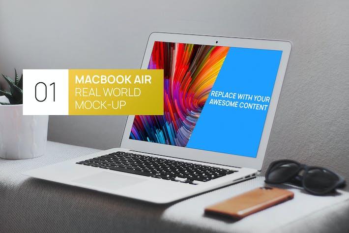 Thumbnail for MacBook Air Minimalistic Real World Photo Mock-up