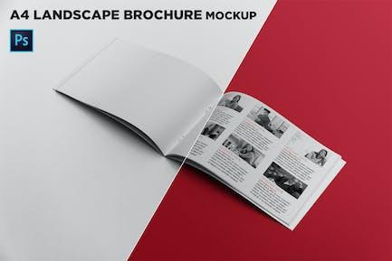 Open Landscape Brochure Mockup