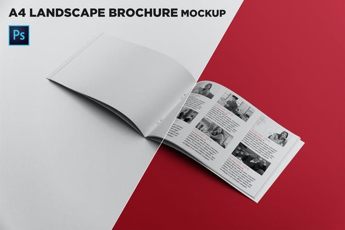 Thumbnail for Open Landscape Brochure Mockup