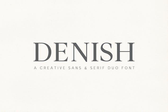 Thumbnail for Denish Sans & Serif Duo Font Family