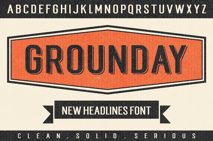 Thumbnail for Grounday Typeface
