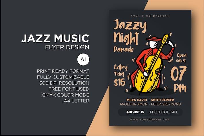 Thumbnail for Jazz Music - Flyer Design Template