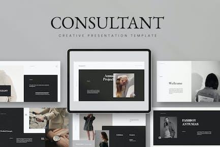 Berater - Powerpoint Minimalis Creative