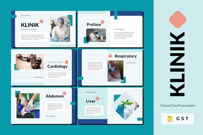 Thumbnail for KLINIK - Клинический случай Шаблон слайдов Google