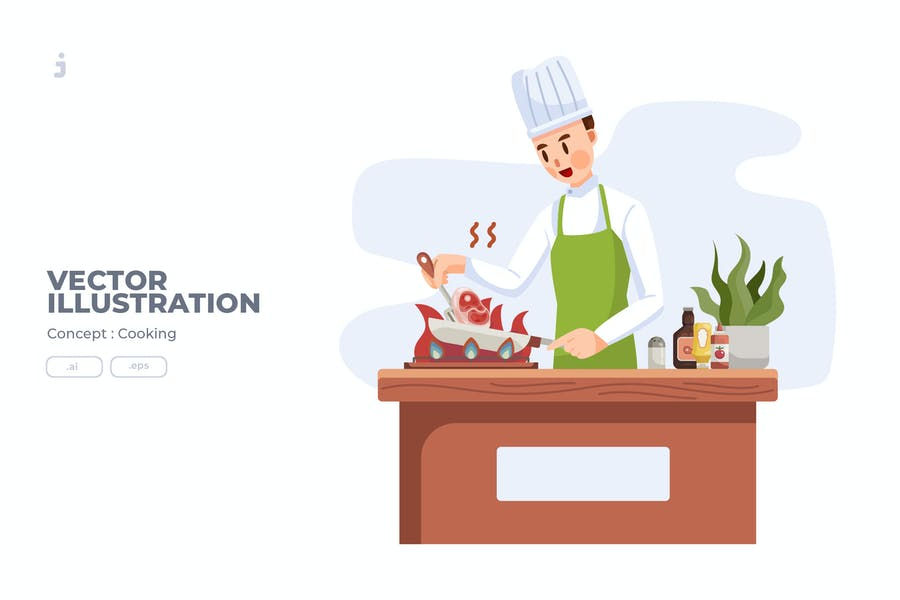Cooking - Vector Illustration