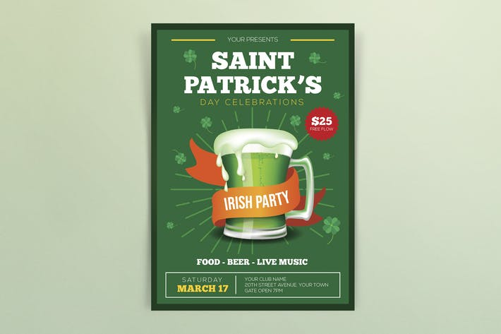 Thumbnail for St. Patrick's Celebrations Flyers