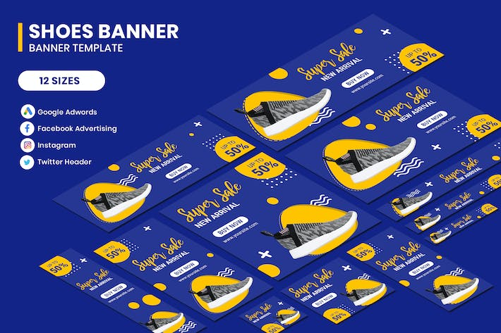Thumbnail for Shoes Banners Ads Template