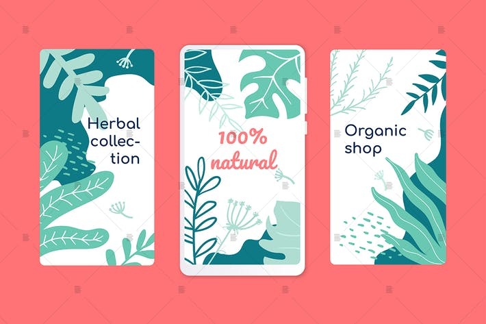 Thumbnail for Organic shop onboarding screens concept