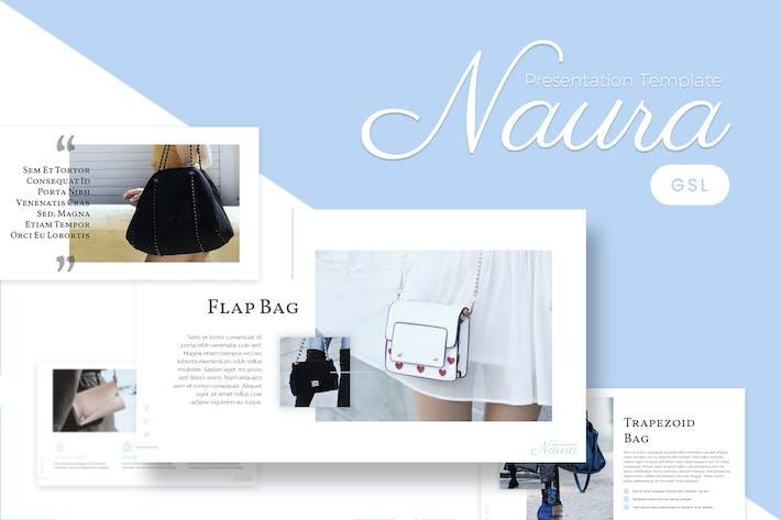 Naura - Feminine  Google Slides Template