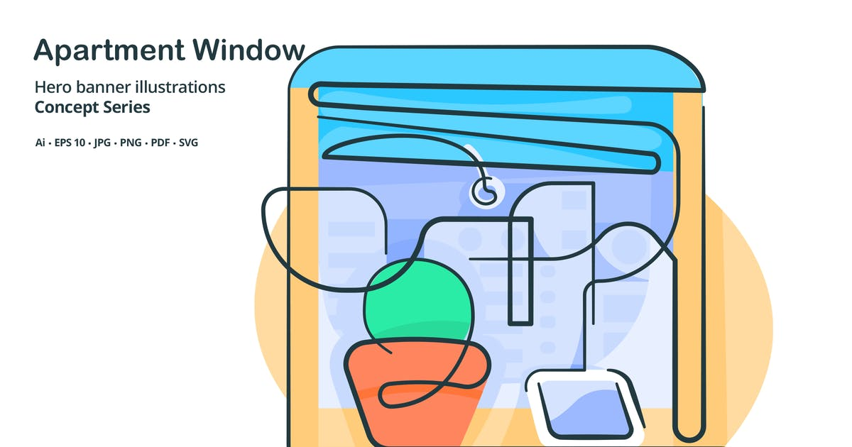 Download Apartment Window Vector Illustration by roundicons