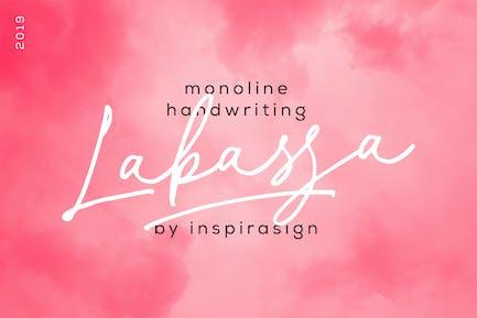 Labasa - Monoline Handwriting