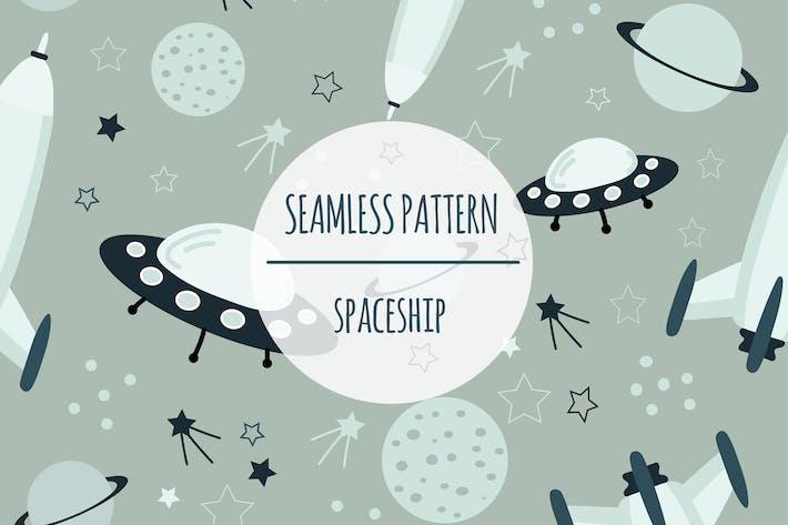 Thumbnail for Spaceship – Seamless Pattern