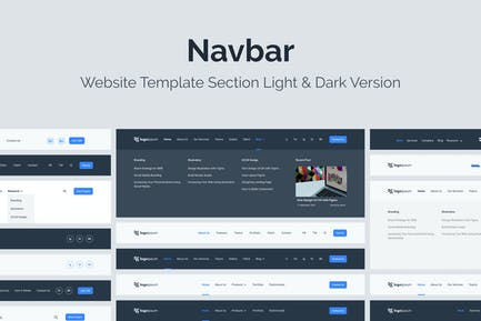Web Navigation Bar Template