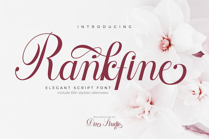 Thumbnail for Rankfine-Elegant Calligraphy Font