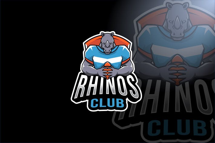 Thumbnail for Rhinos Club Sport Logo Template