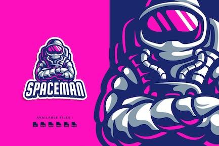 Spaceman Character Logo
