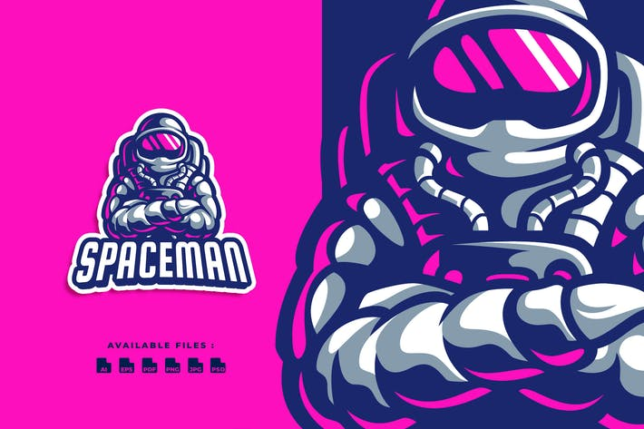 Thumbnail for Spaceman Character Logo