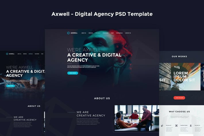 Thumbnail for Axwell - Digital Agency PSD Template